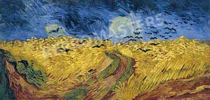 Wheatfield with crows small